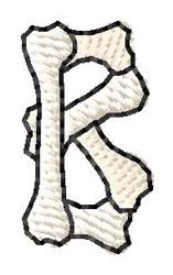 Bones Letter B embroidery design