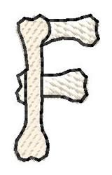 Bones Letter F embroidery design