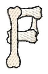 Bones Letter P embroidery design