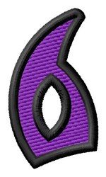 Pointed Purple 6 embroidery design