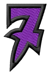Pointed Purple 7 embroidery design
