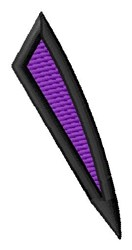 Pointed Purple Back Slash embroidery design