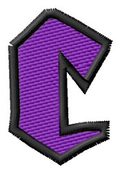 Pointed Purple C embroidery design