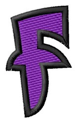 Pointed Purple F embroidery design