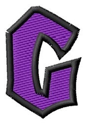 Pointed Purple G embroidery design