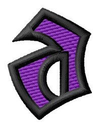 Pointed Purple a embroidery design