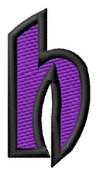 Pointed Purple h embroidery design