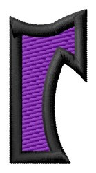 Pointed Purple r embroidery design
