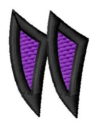 Pointed Purple Left Quotation embroidery design