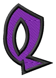 Pointed Purple Q embroidery design