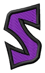Pointed Purple S embroidery design
