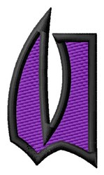 Pointed Purple U embroidery design