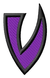 Pointed Purple V embroidery design