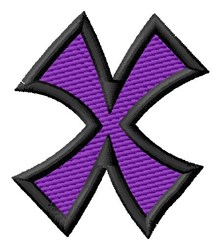 Pointed Purple X embroidery design