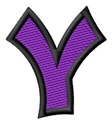 Pointed Purple Y embroidery design