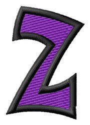 Pointed Purple Z embroidery design