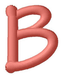 Dot Font B embroidery design