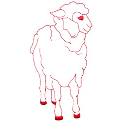 Sheep Redwork embroidery design