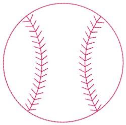 Baseball Outline embroidery design