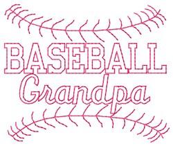 Baseball Grandpa embroidery design