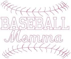Redwork Baseball Momma embroidery design