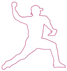 Outline Pitcher embroidery design