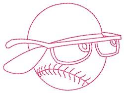 Ball Glasses embroidery design