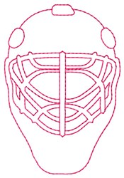 Catchers Mask embroidery design