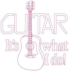 Guitar Quilt Block embroidery design