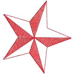 Shadow Star embroidery design