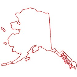 Alaska Outline embroidery design