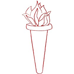 Torch embroidery design