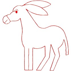 Donkey Outline embroidery design
