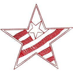 Star with Flag embroidery design