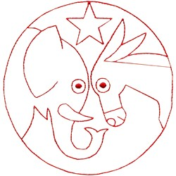 Elephant with Donkey embroidery design