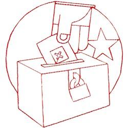 Vote embroidery design