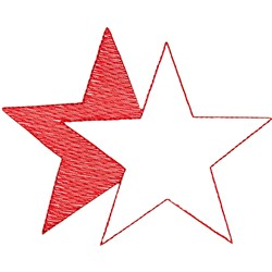 Star shadowed embroidery design
