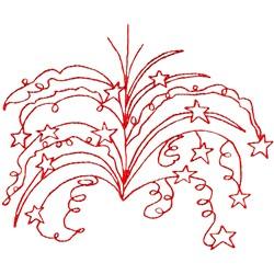 Fireworks Outline embroidery design