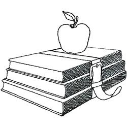 Books embroidery design