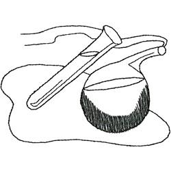 Beaker outline embroidery design