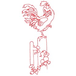 Cock Crow embroidery design