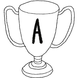 Award Cup embroidery design
