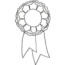 Award Ribbon embroidery design