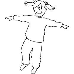 Girl Hopping embroidery design