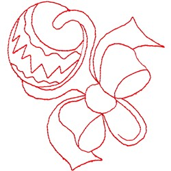 Rattle Outline embroidery design
