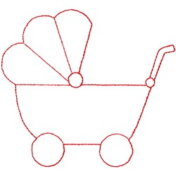 Baby Buggy embroidery design
