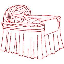 Bassinet embroidery design