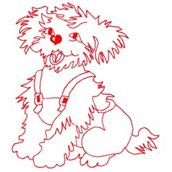 Little Dog Laughed embroidery design