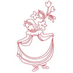 Nancy Etticoat Redwork embroidery design