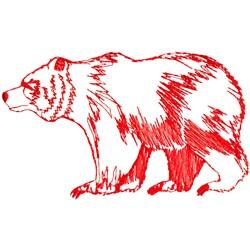 Polar Bear Ragwork embroidery design
